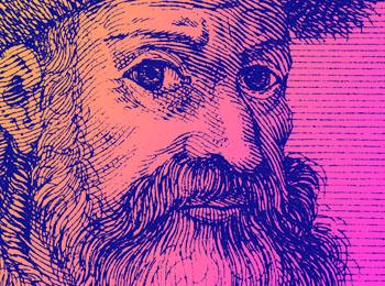 Johannes Gutenberg es considerado el inventor de la imprenta moderna con tipos móviles hacia 1440