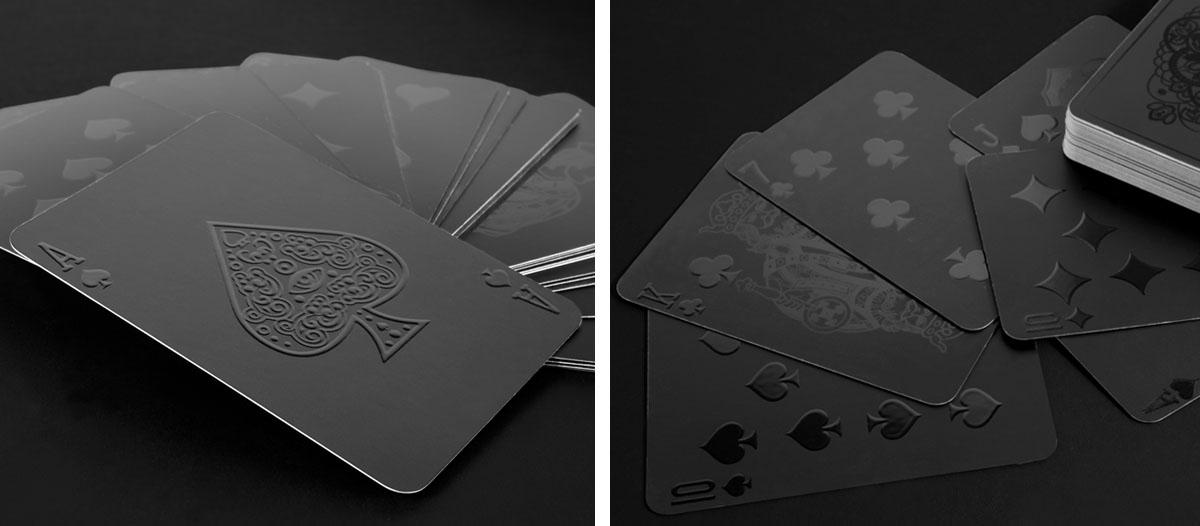 Barniz digital 2D y 3D aplicado sobre una baraja de cartas.