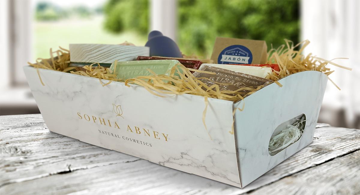 Bandeja de la colección de cajas promocionales. Todas las plantillas están diseñadas para soportar hasta 6 kg. de peso.