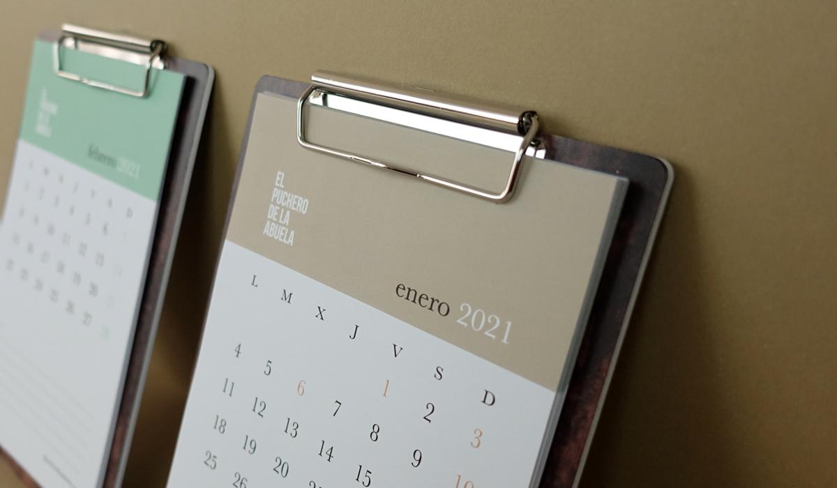 Calendarios y planificadores para promocionarse durante todo el año